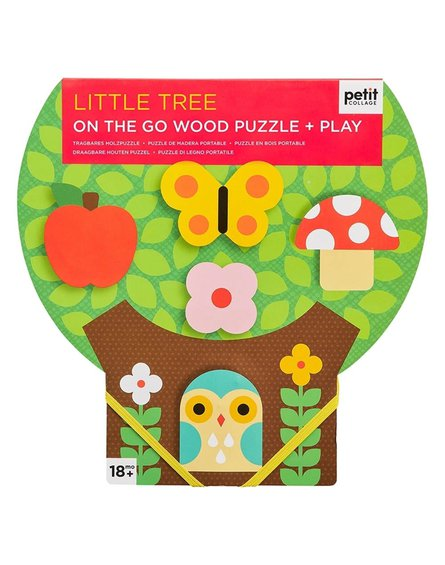 Petit Collage Puzzle Drewniane Drzewko