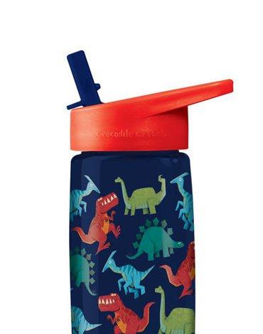 Butelka z rurką, motyw dinozaury