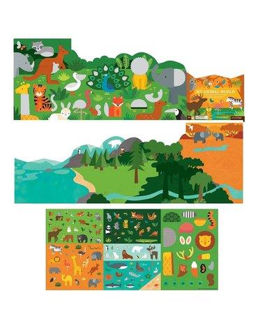 Petit Collage Naklejki z Planszą Zwierzęta