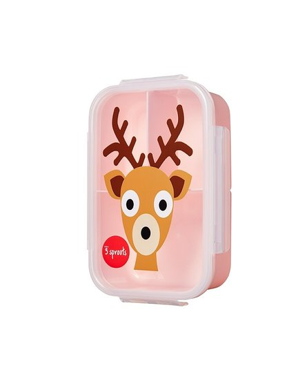 3 Sprouts Lunchbox Bento Jeleń Pink