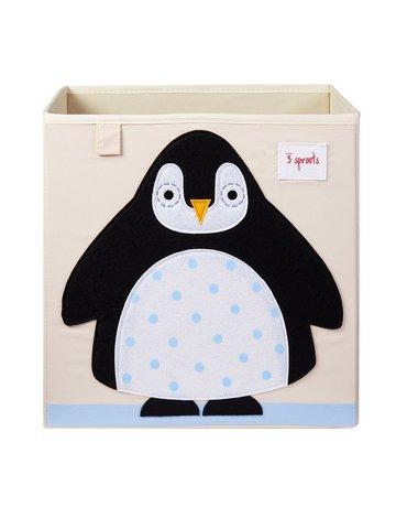 3 Sprouts Pudełko na Zabawki Pingwin Black