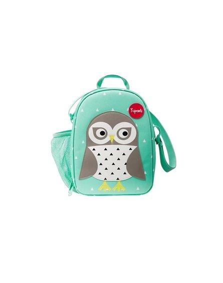 3 Sprouts Lunch Bag Dla Dzieci Sowa