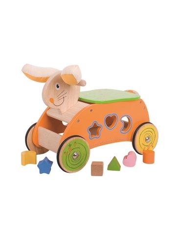 BabyBigjigs - Drewniany jeździk Szalony Królik