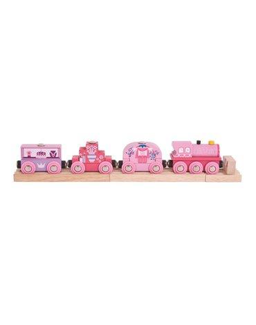 BigjigsRail - Pociąg Księżniczki - drewniana kolejka dla dziewczynki