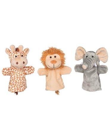 Goki Pacynki na rękę Big Trio - słoń, żyrafa i lew
