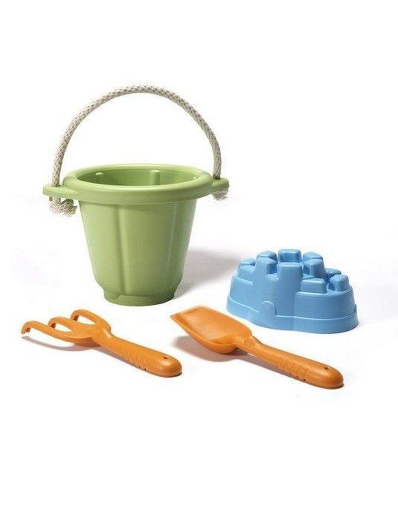 Greentoys - Green Toys zestaw do piasku Zielony