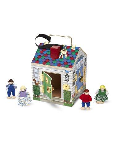 Melissa&Doug® - Domek z zamkami i kluczami