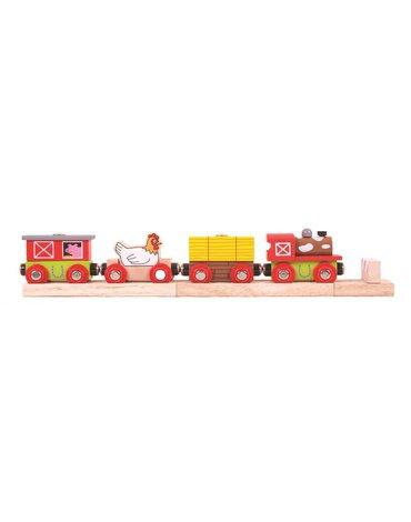 BigjigsRail - Pociąg Farma kolejka drewniana