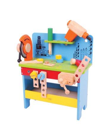 Bigjigs - Drewniany warsztat majsterkowicza z narzędziami