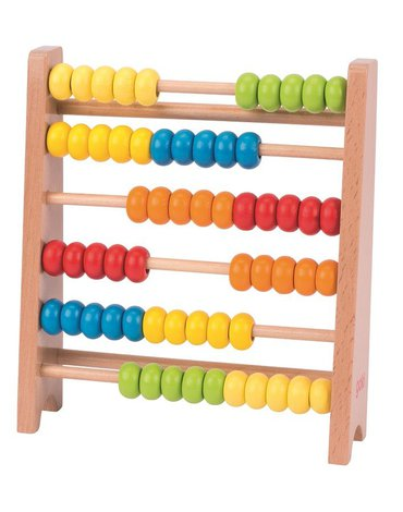Goki® - Małe kolorowe liczydło drewniane