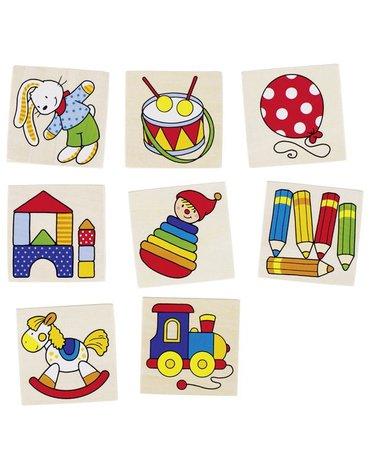 Goki® - Memo drewniane zabawkowe dla malucha 16el.