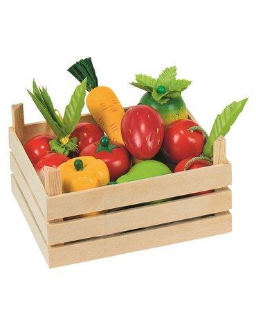 Goki® - Drewniane owoce i warzywa w skrzynce
