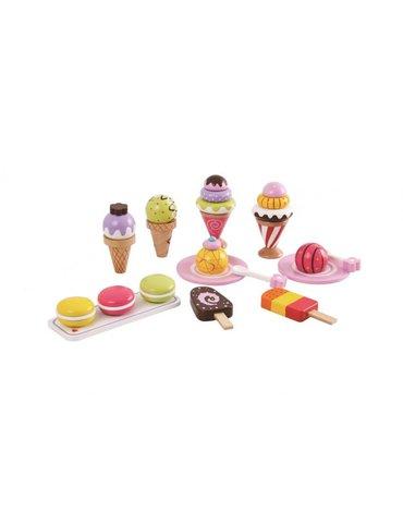 Lelin - Lody - zestaw lodów 25 sztuk - zabawka drewniana