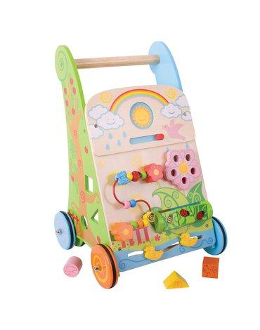 BabyBigjigs - Interaktywny chodzik Łączka - pchacz wielofunkcyjny i jeździk 7 w 1