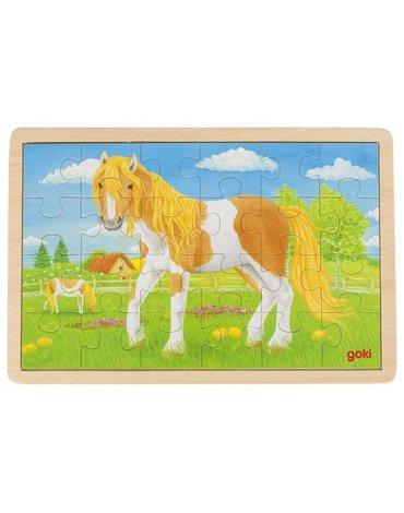 Goki® - Puzzle drewniane konik pony