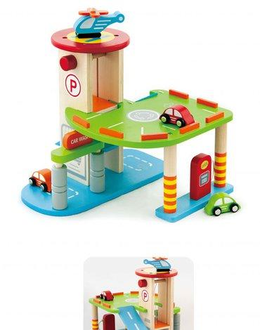 Viga - Parking z windą - zestaw do zabawy autkami