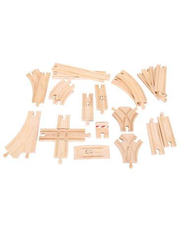 BigjigsRail - Zestaw drewnianych torów - 25 szt.