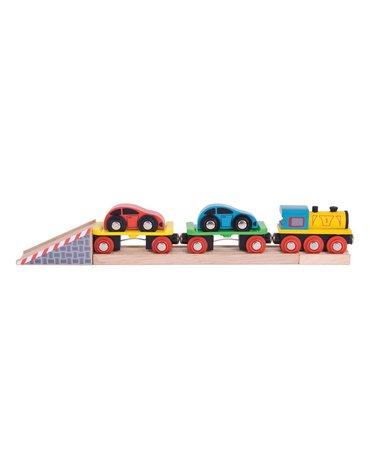 BigjigsRail - Pociąg transportowy z lawetą