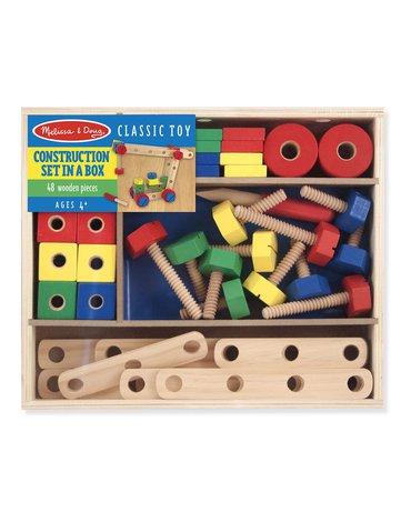 Melissa&Doug® - Drewniane klocki konstruktora - 48 elementów