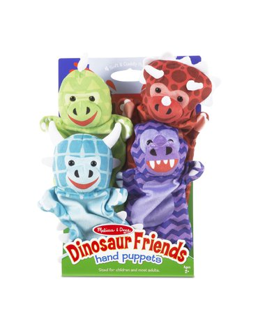 Melissa & Doug - Pacynki na rękę dinozaury - 4 szt.