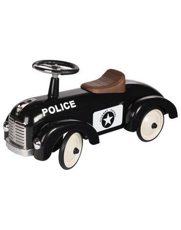 Goki® - Jeździk czarny retro Policja