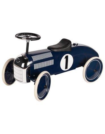 Goki jeździk - granatowa wyścigówka NAVY