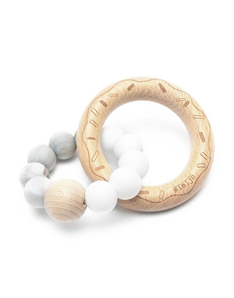 Mimijo - Gryzak donut biało-szary