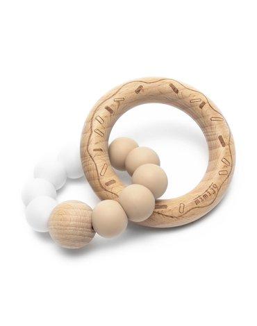 Mimijo - Gryzak donut biało-beżowy
