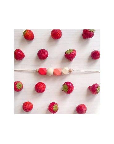Mimijo - Naszyjnik silikonowy Strawberry
