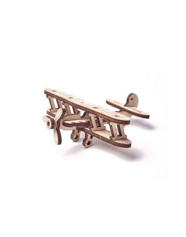 Wood Trick - WoodTrick Puzzle mechaniczny samolot dwupłatowiec