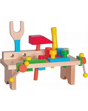 Woody - Warsztat drewniany dla chłopca mini z narzędziami