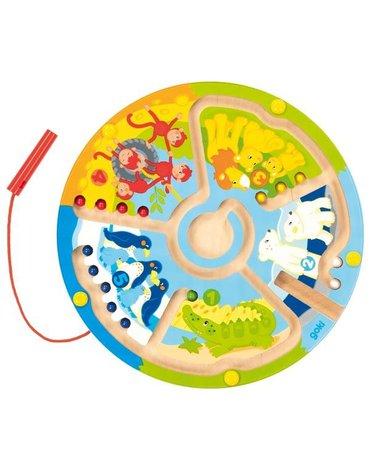 Goki® - Labirynt magnetyczny zwierzęta i cyfry