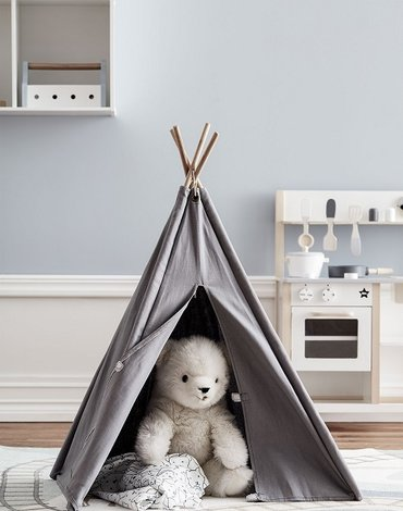 Kids Concept Namiot Tipi Mini Grey