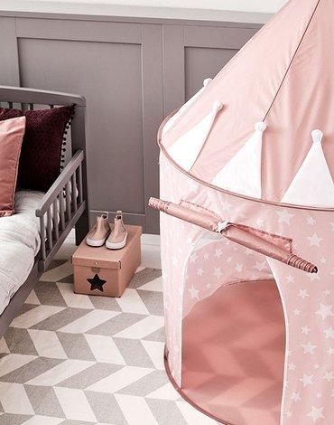 Kids Concept Star Namiot Różowy w Gwiazdki