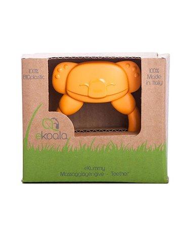 eKoala - Gryzak Koala z BIOplastiku z Uchwytem, Pomarańczowy, 4m+