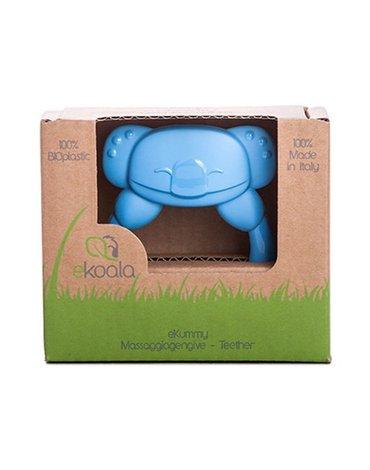 eKoala - Gryzak Koala z BIOplastiku z Uchwytem, Niebieski, 4m+