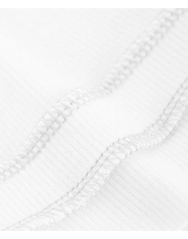 Bamboom - Czapeczka Bambusowa dla Niemowlaka, Biała, 0m+