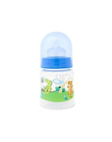 Poupy - Butelka do Karmienia z Szeroką Szyjką, Niebieska, 150 ml, 0m+