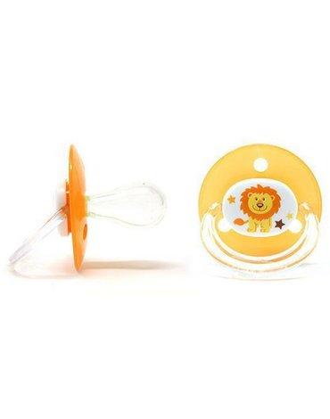 Poupy - Smoczek Okrągły Silikonowy, Pomarańczowy, 4m+, 2 szt.