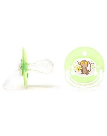 Poupy - Smoczek Okrągły Silikonowy, Zielony, 4m+, 2 szt.