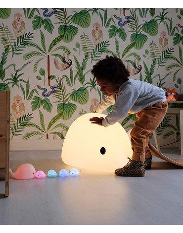 Flow Amsterdam - Lampka Nocna LED, Wieloryb Moby Mini, Niebieski