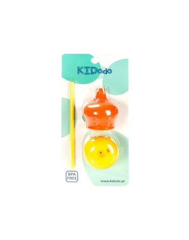 KIDodo - Zestaw Silikonowych Nakładek na Kubki, Pomarańczowa + Żółta, 9m+