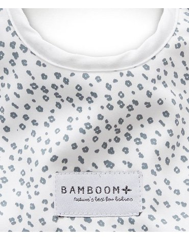 Bamboom - Śliniaczek Bambusowy, Grey Leopard, 0m+