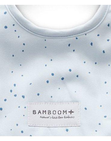 Bamboom - Śliniaczek Bambusowy, Blue Mini Dots, 0m+