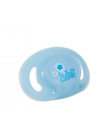 Lulabi - Smoczek Ortodontyczny Silikonowy Świecący w Nocy, Niebieski, 6m+