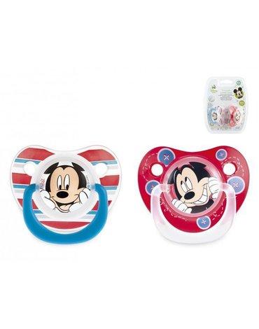 Lulabi - Smoczek Okrągły Silikonowy, Myszka Mickey, 6m+, 2 szt