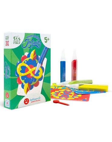 Sabbiarelli - Magiczny Piasek do Kolorowania, Pocket Kit, Mandala, 5l+