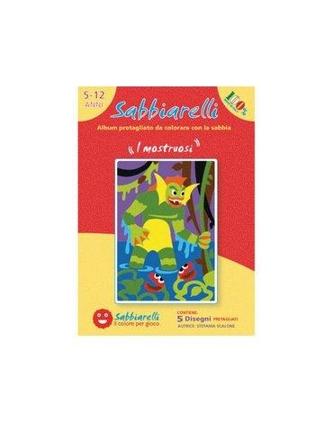 Sabbiarelli - Album do Kolorowania Magicznym Piaskiem, Potwory, 5l+