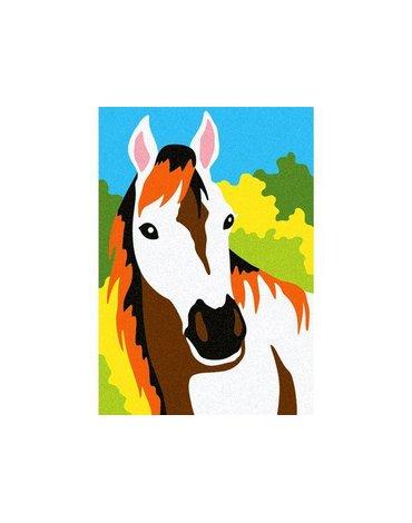 Sabbiarelli - Album do Kolorowania Magicznym Piaskiem, Konie, 5l+
