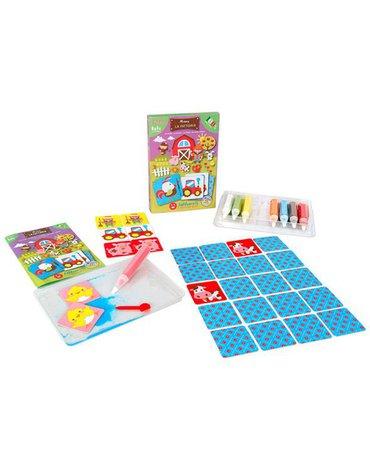 Sabbiarelli - Magiczny Piasek do Kolorowania, Smart Kit Memory, Farma, 3l+